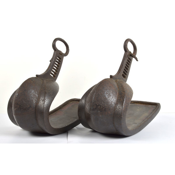 Pair of Early Iron Japanese Stirrups