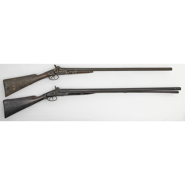 Percussion Side-by-Side Shotguns, Lot of Two