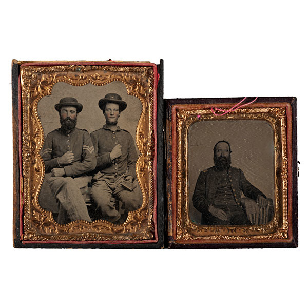 Sixth Kentucky Cavalry Grouping, Including Tintypes, Ribbon, and Adjutant General's Report