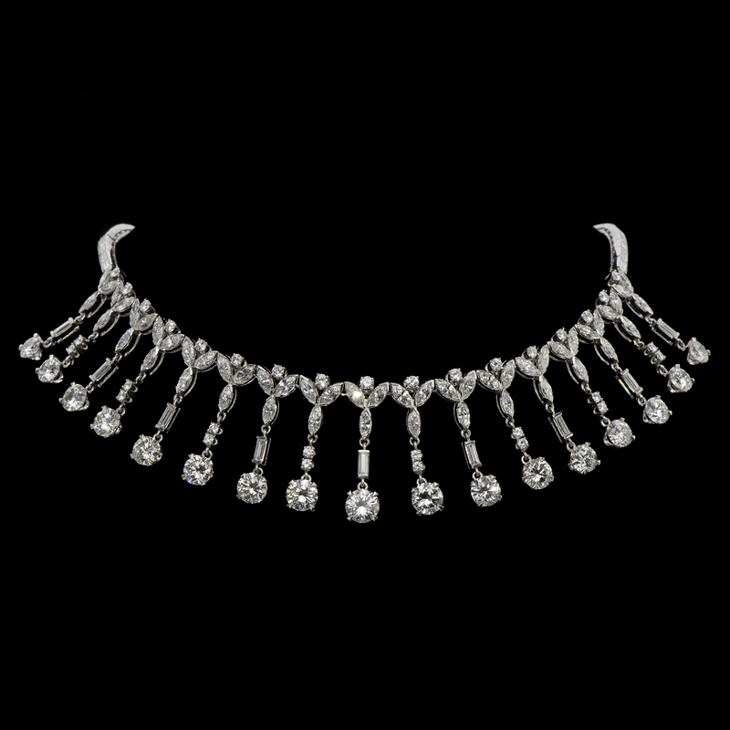 28 Carat Platinum and Diamond Necklace Made for Marge Schott of The Cincinnati Reds