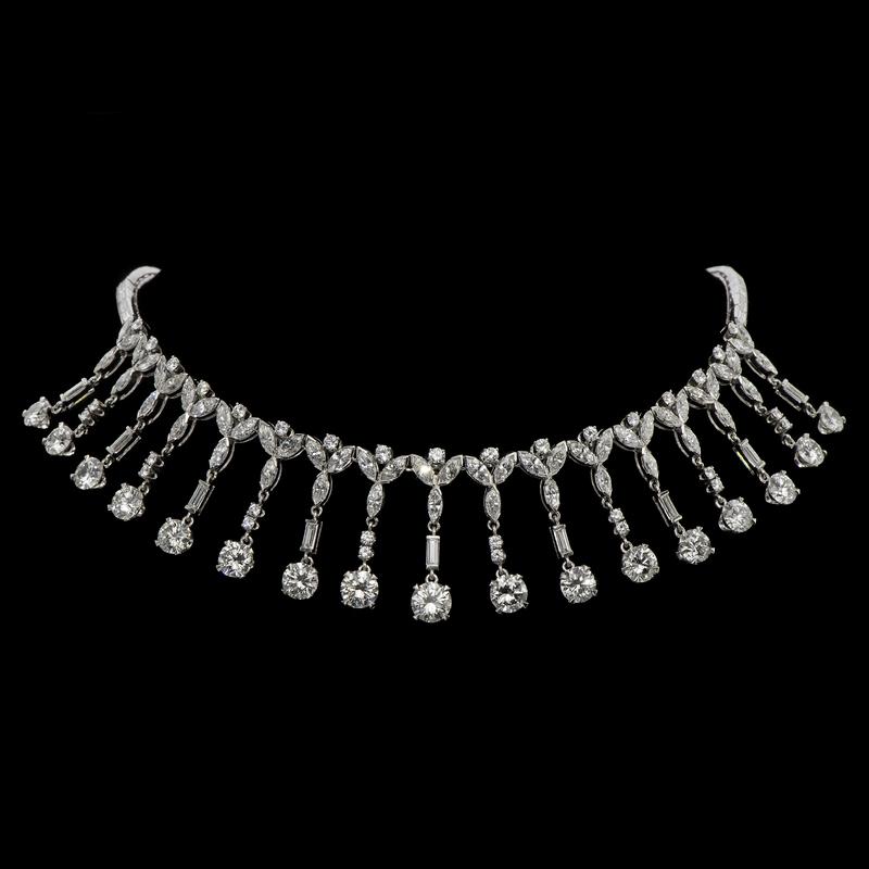 28 Carat Platinum and Diamond Necklace Made for Marge Schott of The Cincinnati Reds