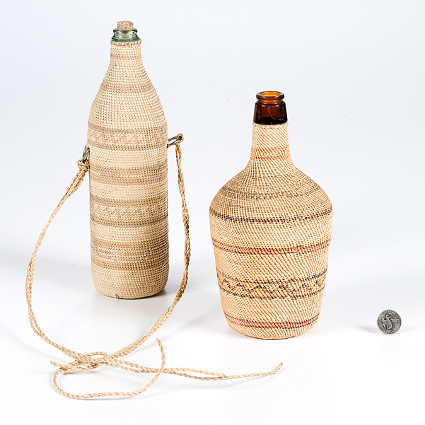 Northern California Basketry Covered Bottles from the Collection of Kent and Karen Vickery, Colorado