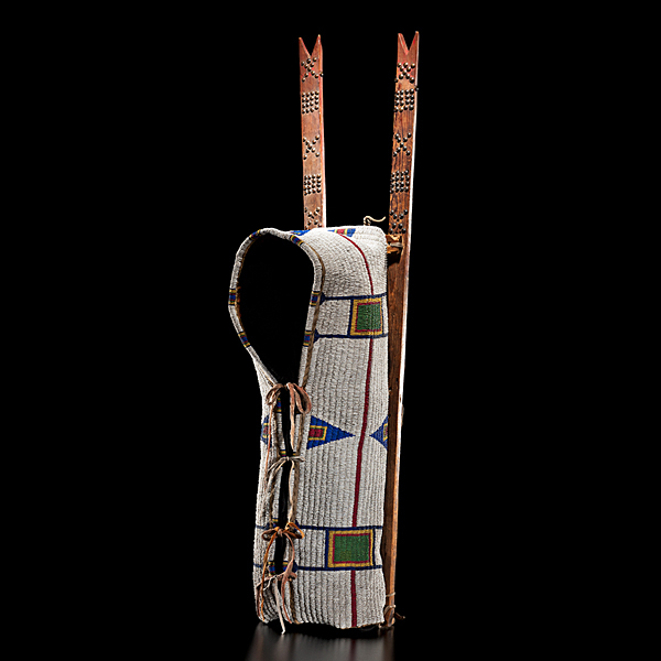 Cheyenne Beaded Buffalo Hide Cradle From the Collection of Marvin L. Lince, Oregon