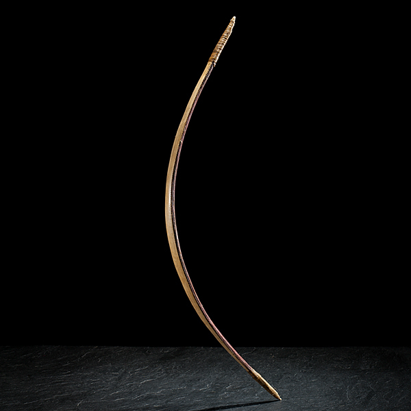 Rare Blackfoot Sinew-Backed Elk Horn Bow From the Collection of Marvin L. Lince, Oregon