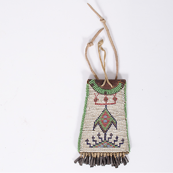 Southern Plains Beaded Ration Pouch