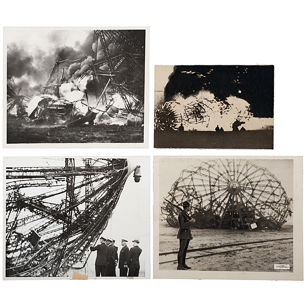 The Hindenburg, Press Photographs of the Explosion, Crew, & Survivors of the Disaster