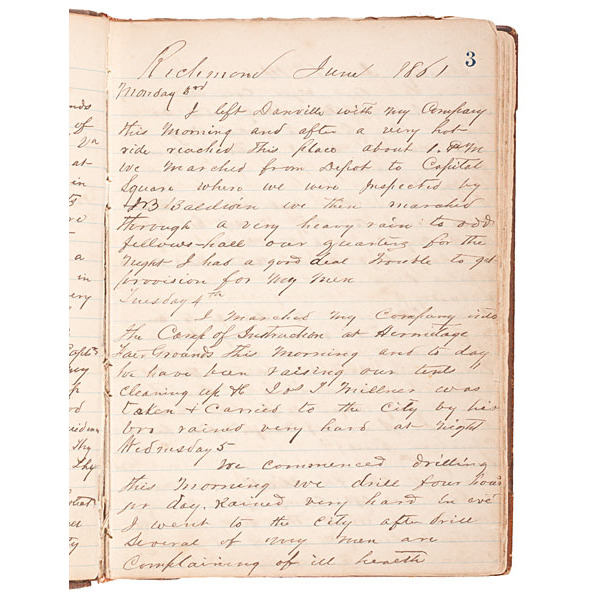 CSA Colonel George K. Griggs, Virginia 38th Infantry, WIA at Seven Pines & Gettysburg, Civil War Diary