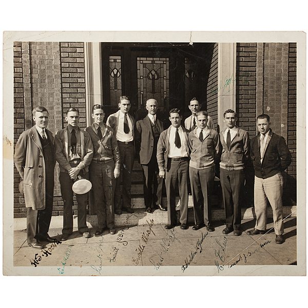 Orville Wright & Other Aviators, Signed Photograph