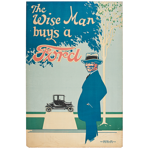 The Wise Man Buys a Ford Chromolithograph
