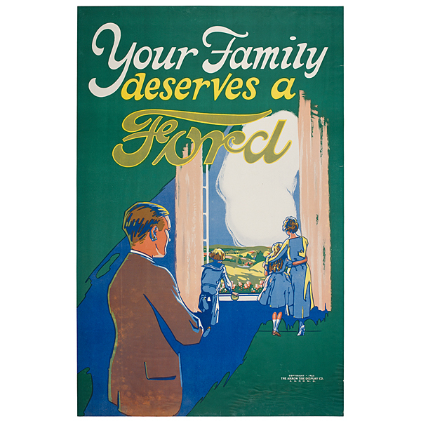 Your Family Deserves a Ford Chromolithograph, 1923
