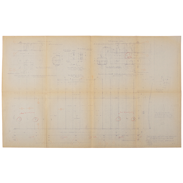 Wright Brothers, Working Set of Drawings Made From the 1903 Wright Flyer, by Louis P. Christman, with Notes from Orville Wright
