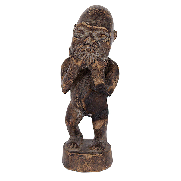 Belgian Congo Carved Wooden Ancestral Fetish
