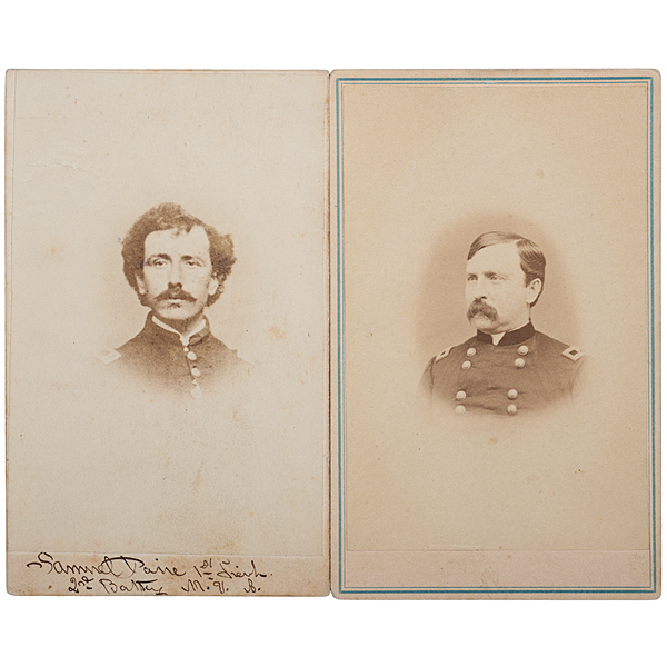 2nd Maine Battery Officers, Two CDVs