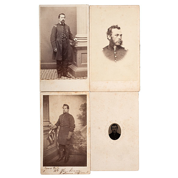 3rd Maine Soldiers, Four CDVs