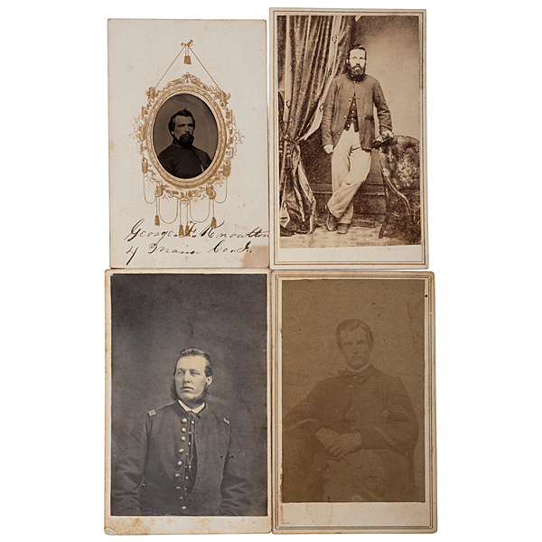 4th Maine Soldiers, Four CDVs