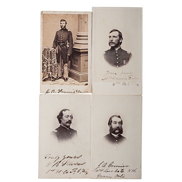 5th Maine Officers, Four Identified CDVs