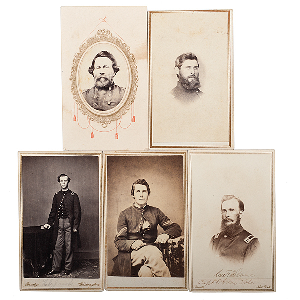 6th Maine Officers, Five Identified CDVs