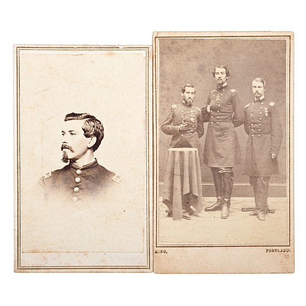 7th Maine Soldiers, Two Identified CDVs, including CMOH Winner