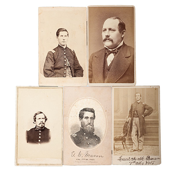 7th Maine Officers, Five Identified CDVs
