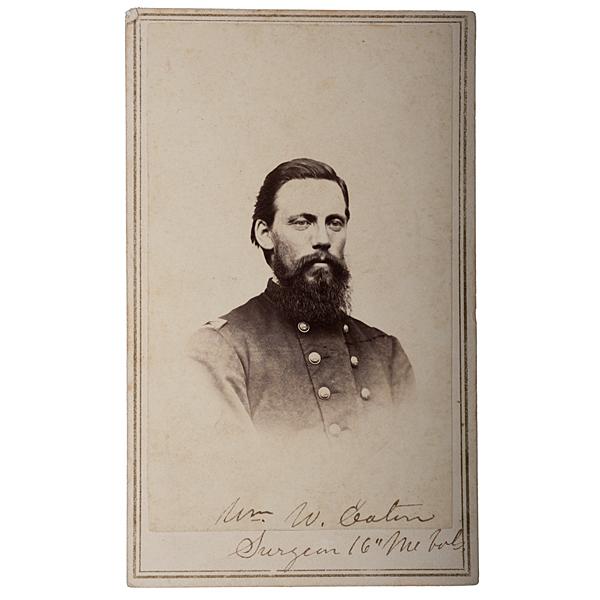Surgeon William W. Eaton, 16th Maine-POW Gettysburg, CDV