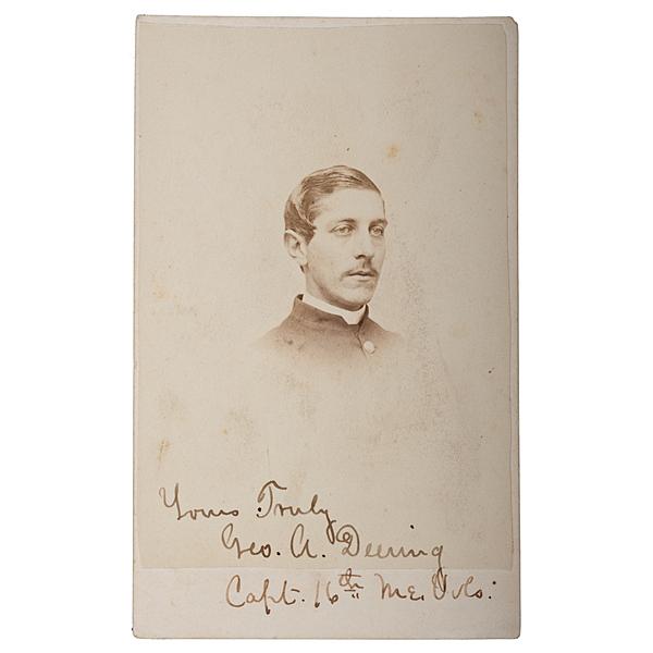 Captain George A. Deering, Co. F, 16th Maine-POW Gettysburg, CDV