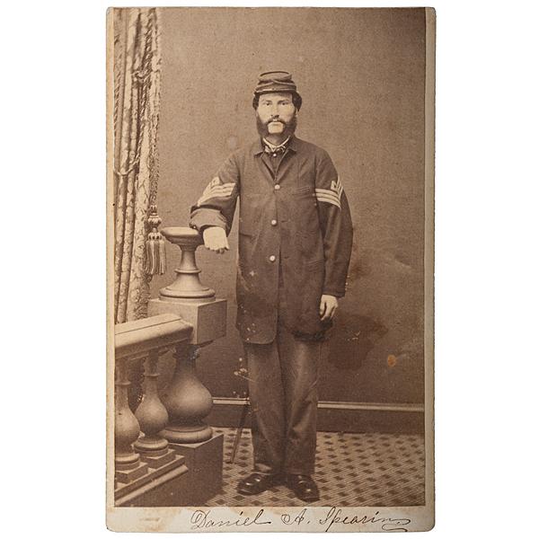 Sergeant Daniel A. Spearin, Co A., 16th Maine-WIA Gettysburg, CDV