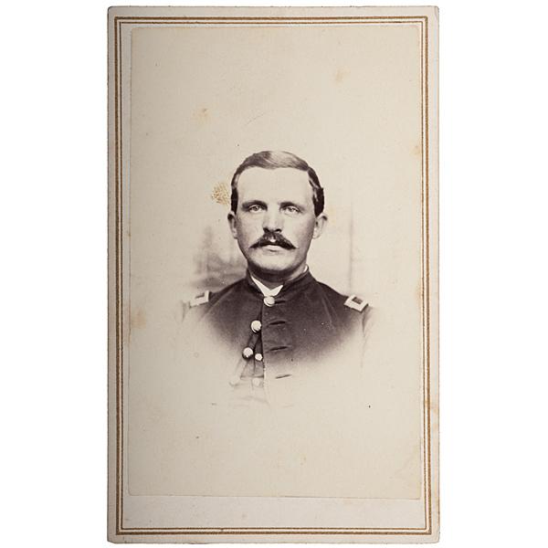 2nd Lieut. Aubrey Leavitt, Co. E, 16th Maine-WIA Gettysburg, CDV