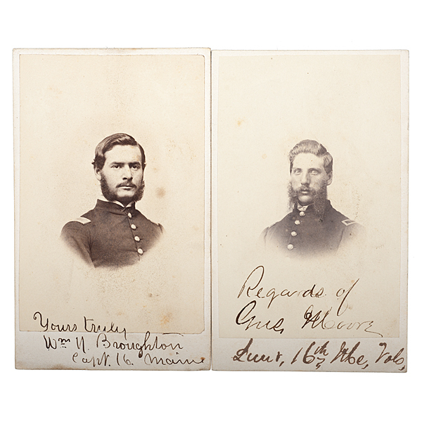 16th Maine Officers at Gettysburg, Two Identified CDVs