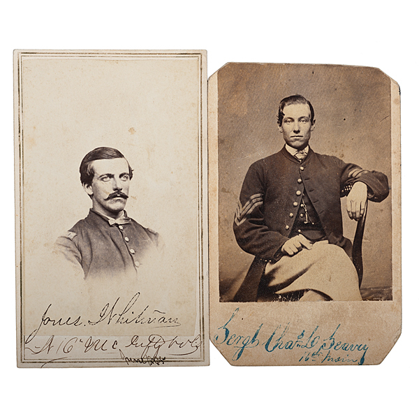 16th Maine Soldiers at Gettysburg, Two Identified CDVs