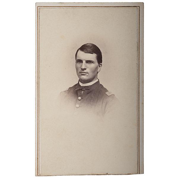 2nd Lieut. Wilbur F. Mower, 16th Maine--Carried Colors at Gettysburg, CDV