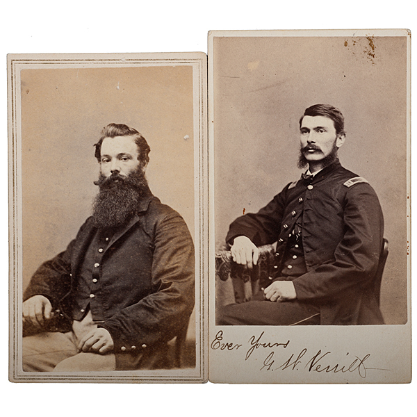17th Maine Soldiers at Gettysburg, Two Identified CDVs
