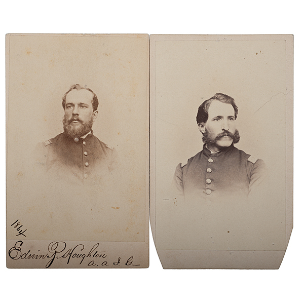 17th Maine Officers at Gettysburg, Two Identified CDVs