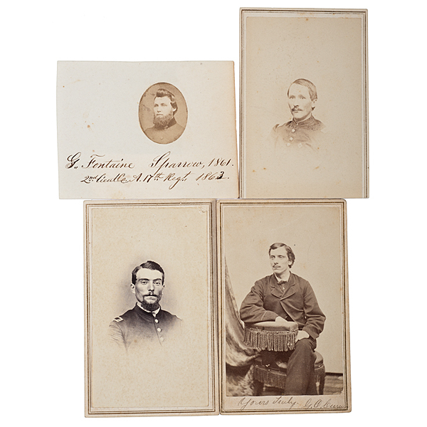 17th Maine Soldiers at Gettysburg, Four Identified CDVs