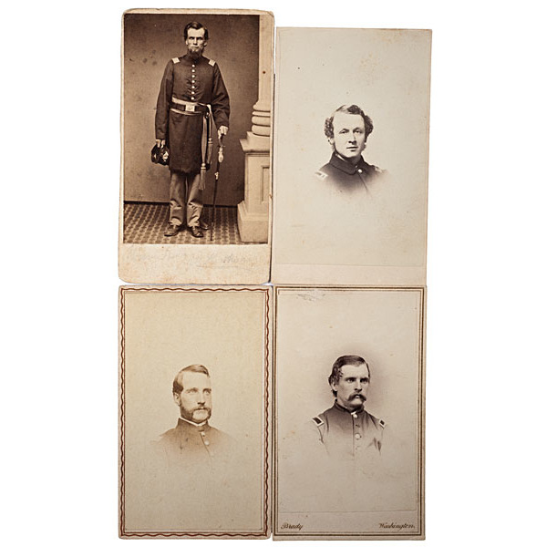 19th Maine Officers, Four Identified CDVs