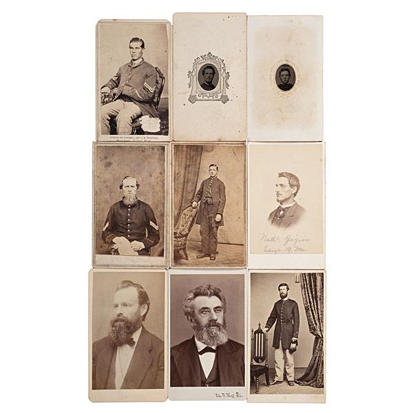 19th Maine Enlisted Men, Nine Identified CDVs