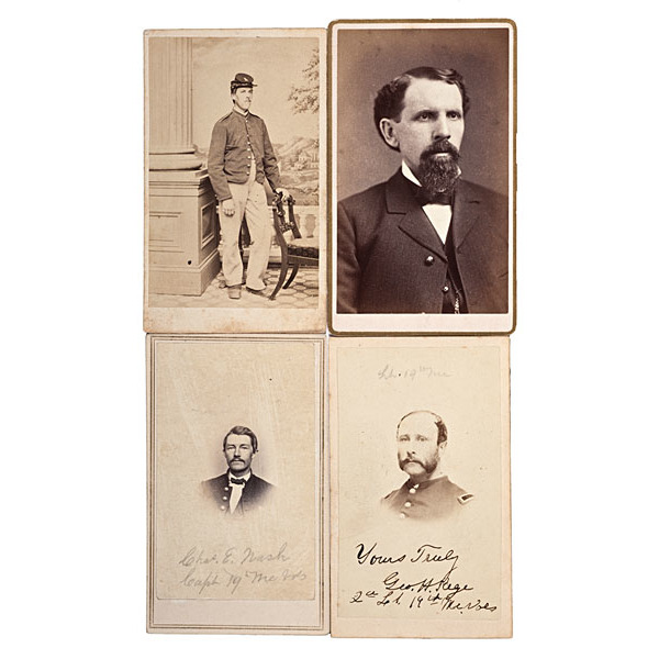 19th Maine Soldiers at Gettysburg, Four Identified CDVs