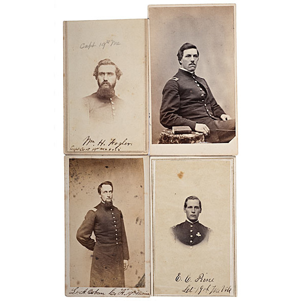 19th Maine Officers at Gettysburg, Four Identified CDVs