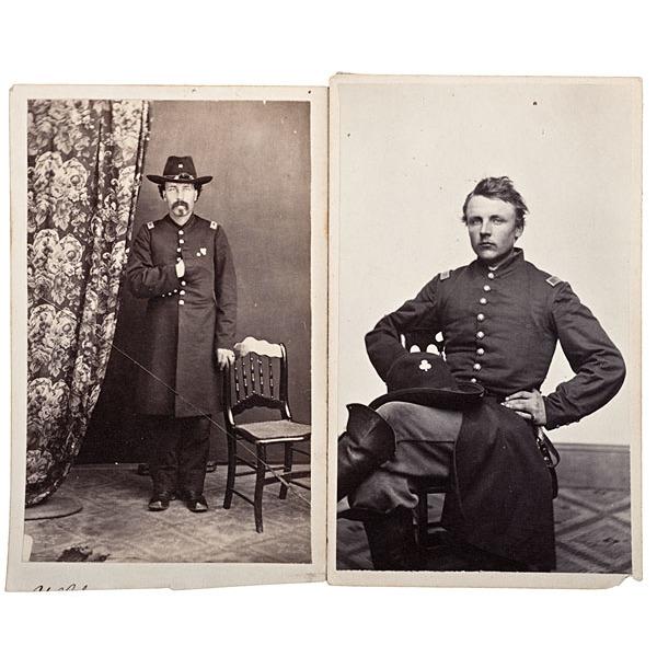 19th Maine Officers-WIA Gettysburg, Two Identified CDVs