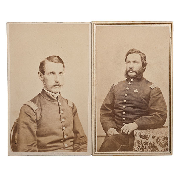 19th Maine Officers-WIA Gettysburg, Two Identified CDVs
