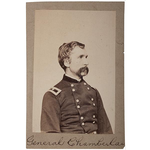 General Joshua Chamberlain, CMOH, Mounted Albumen