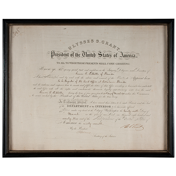Ulysses S. Grant Appointment Signed as President