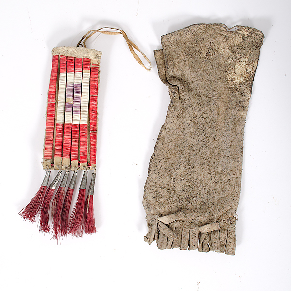 Sioux Quilled Hide Pouch PLUS Collected by John S. Boyden, Sr. (1906-1980)