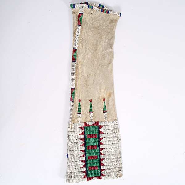 Cheyenne Beaded Hide Tobacco Bag Collected by John S. Boyden, Sr. (1906-1980)