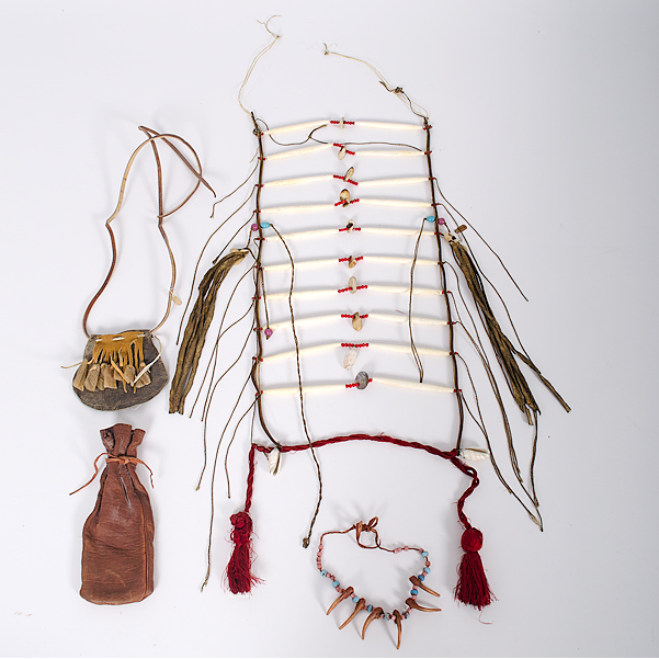 Northern Plains Hairpipe Breastplate with Accessories Collected by John S. Boyden, Sr. (1906-1980)