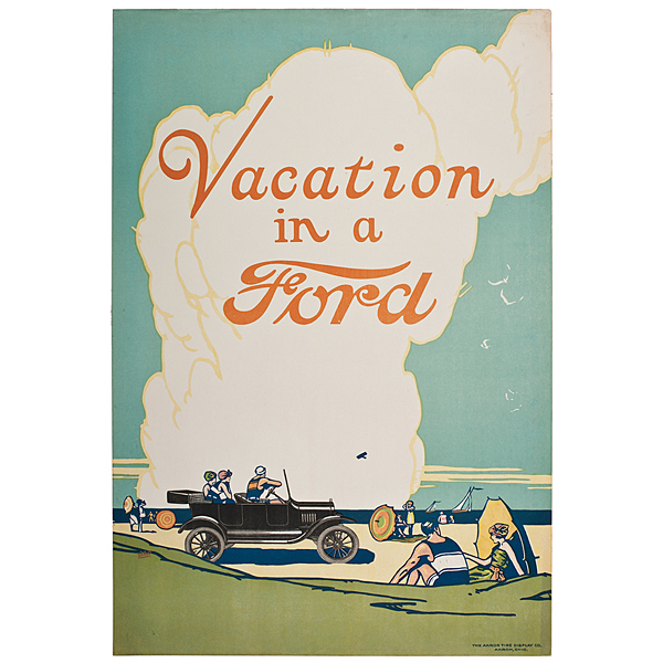 Vacation in a Ford Chromolithograph