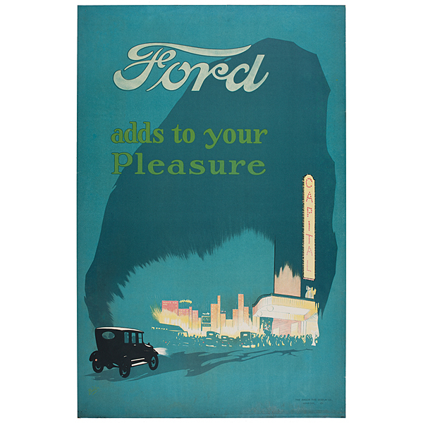 Ford Adds To Your Pleasure Chromolithograph