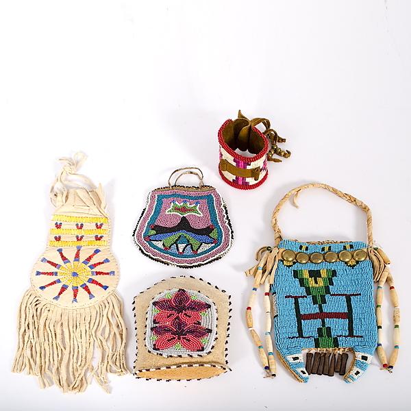 A Group of Bead and Quillwork From the Collection of Dr. Kent and Karen Vickery, Colorado
