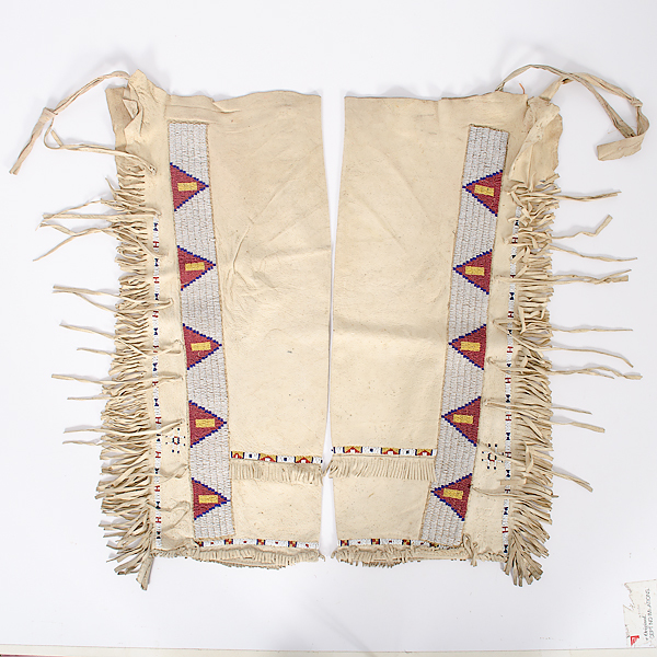Sioux Beaded Hide Leggings From the Collection of Dr. Kent and Karen Vickery, Colorado
