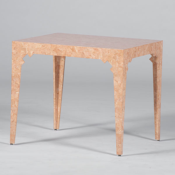 Coral Colored Parson's Table