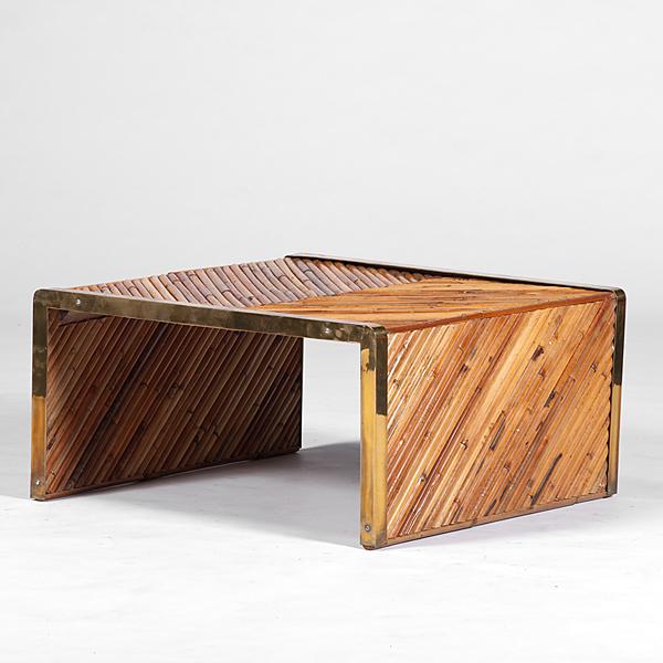 Bamboo Table and Cigar Box